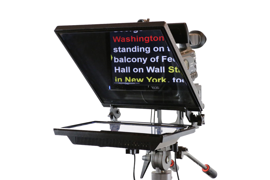Midland, Odessa, on-camera mount teleprompter, operator, rental, service